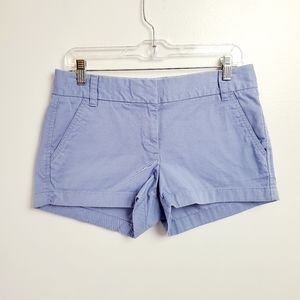 J crew size 4 blue cotton chino shorts